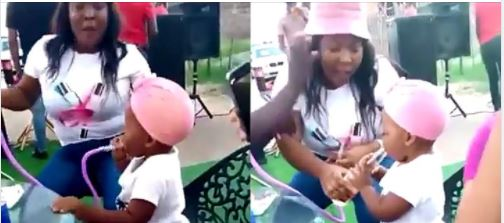 Video of woman letting small child smoke and drink goes viral